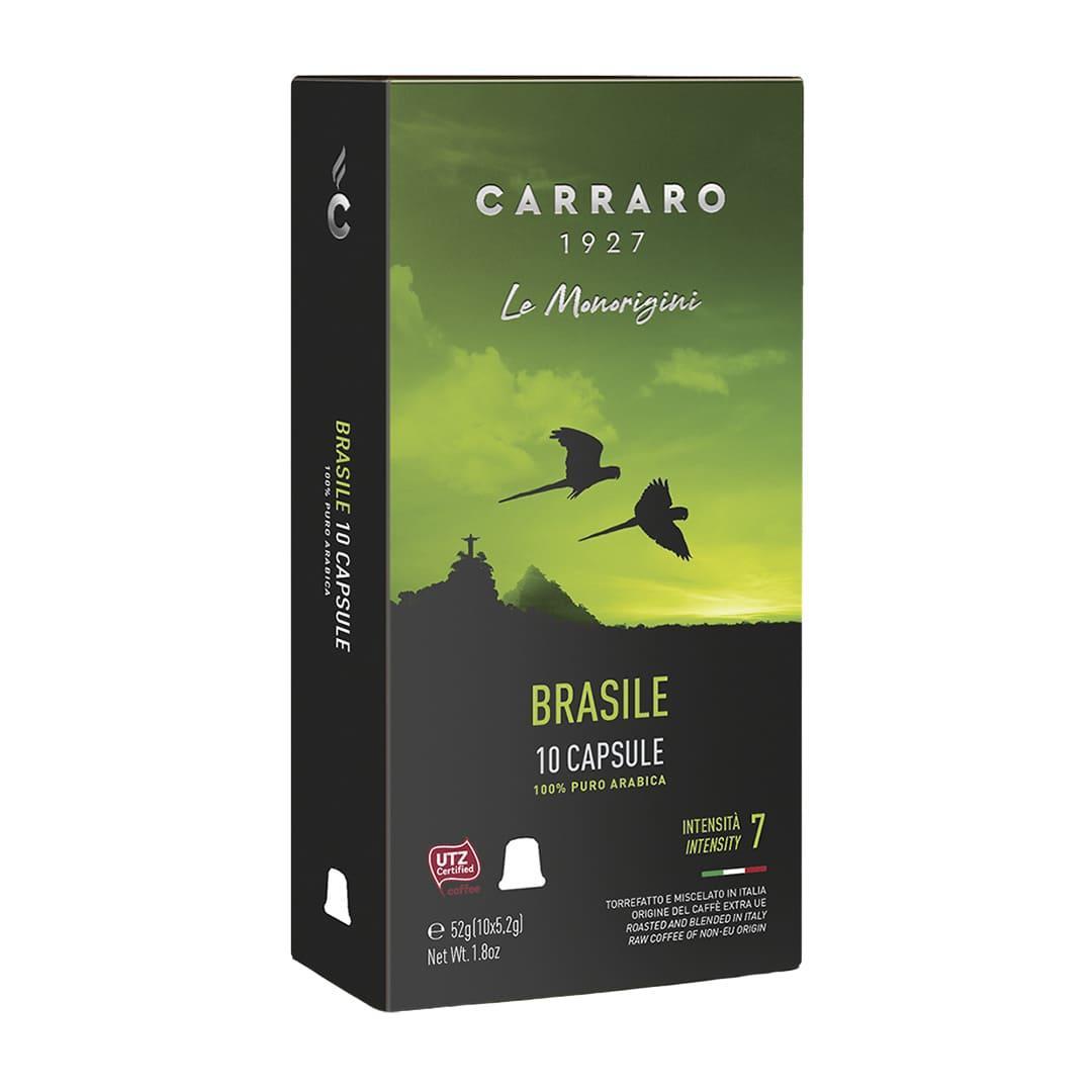 """Кофе в капсулах Carraro """"Brasile""""  10 шт."""