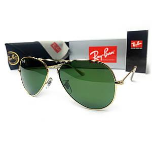 Солнцезащитные Очки R-B Aviator 3025 Капли Золото Зеленый Стекло