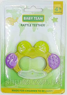 Прорезыватель - погремушка 4+, BabyTeam, арт. 4001,1 шт.