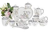 Масленка керамическая Веселая семейка, 17см BonaDi DM559-Q, фото 3