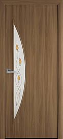 Двері міжкімнатні Місяць скло Р1 Вільха 3D, 800