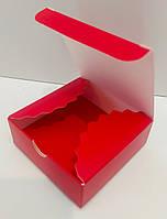 Коробка для конфет 4 шт Красная (мини-бокс) 83*83*30мм