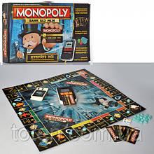 Настільна гра Монополія, термінал-звук, світло, карти, фішки TG 002