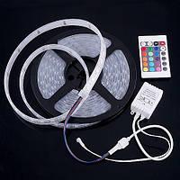 Комплект Светодиодная (LED) лента в силиконе 5050, RGB, 5 метров (катушка), 12V, Waterproof