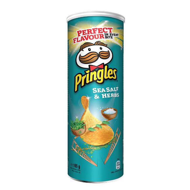 Чіпси Pringles Sea Salt & Herbs, морська сіль і трави, 165г, 19 шт/ящ