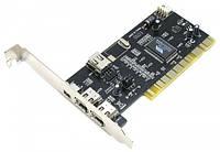 Контроллер PCI - 1394 FireWire 2+1port с кабелем (VIA chipset)