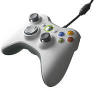 Джойстик Проводной  Xbox 360 White