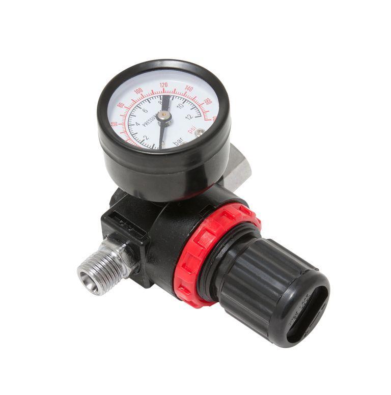 """Регулятор давления воздуха с индикатором 1/4""""(F)x1/4""""(M) (0-12bar, нижнее расположение регулятора) Forsage"""