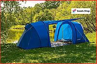 Палатка туристическая четырехместная двухкомнатная двухслойная с тамбуром Presto Acamper Lofot 4-х местная