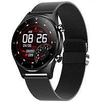 Мужские многофункциональные стильные умные смарт часы с сенсорным экраном черные