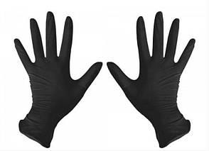 Перчатки нитриловые Medicom S неопудренные текстурированные 50 пар Черные (MAS200016)