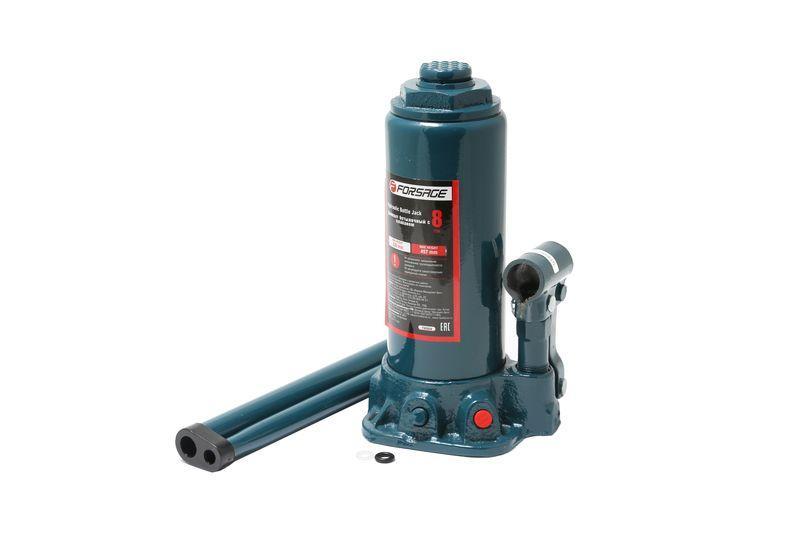 Домкрат бутылочный 8 т с клапаном (h min 230мм, h max 457мм) Forsage F-T90804