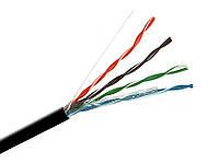 Витая пара UTP (100) 2х2х0,5мм, OK-net, (CU),изоляция ПЭ для наружных работ, 305м.