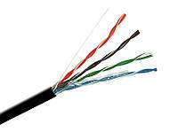Витая пара UTP (100) 2х2х0,5мм, OK-net, (CU),изоляция ПЭ для наружных работ, 500м.