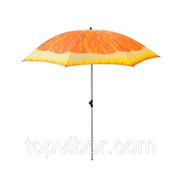 Велика садова парасолька від сонця 1.8 м Апельсин, посилена пляжна парасолька   зонт пляжный усиленный