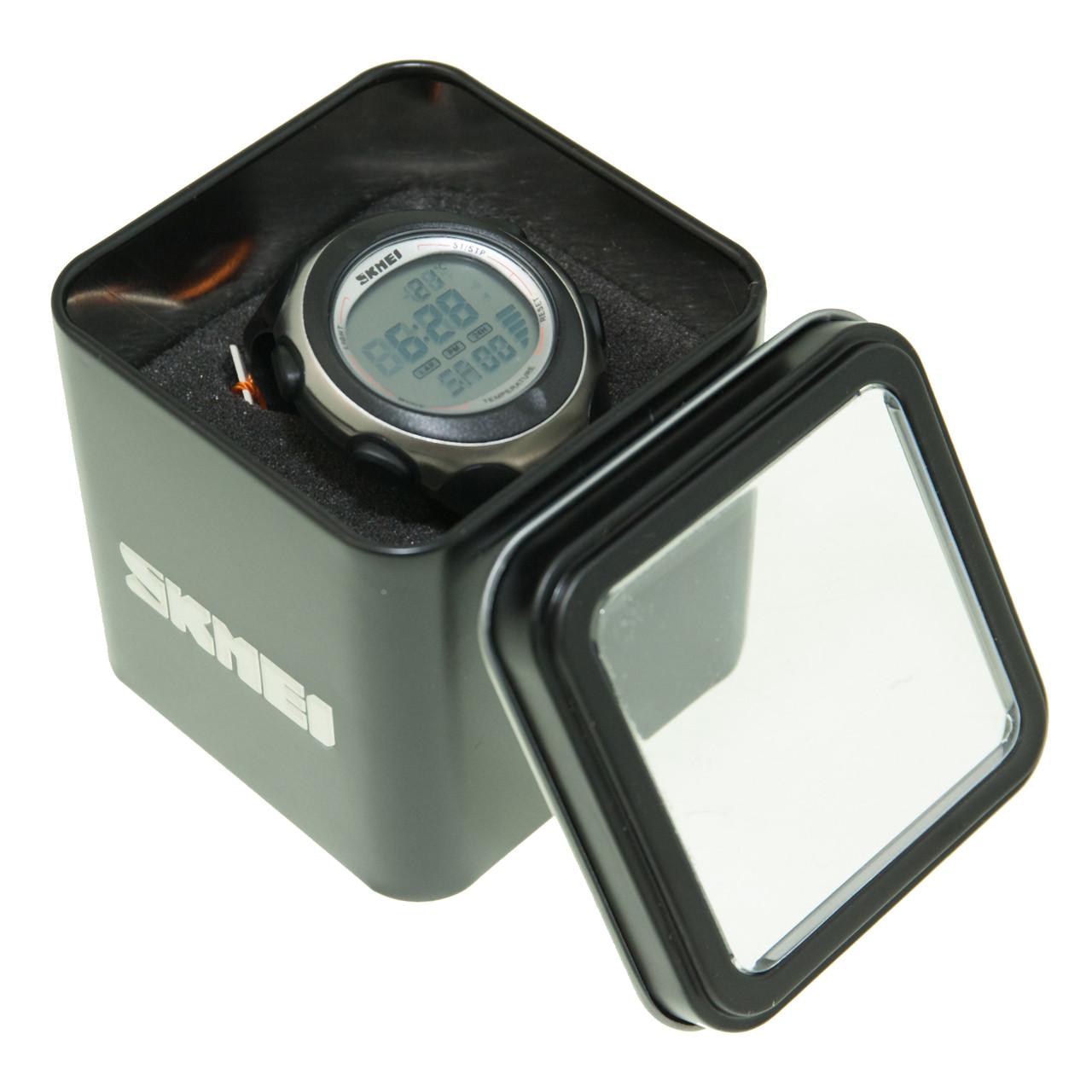 Годинник Skmei 1080 Black-White BOX з термометром