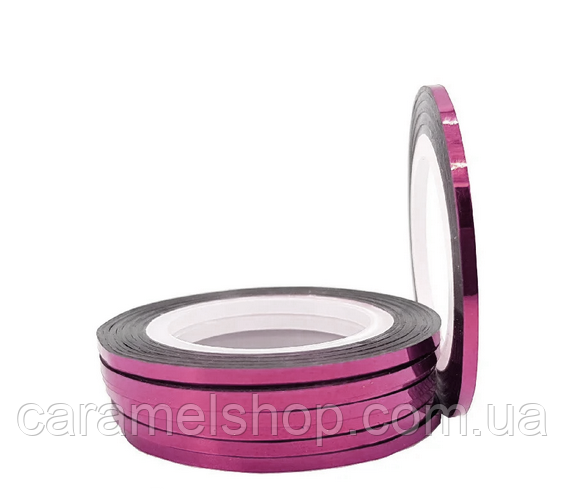 Стрічка-скотч для декору нігтів, рожевий 2 мм