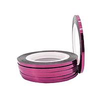 Стрічка-скотч для декору нігтів, рожевий 2 мм, фото 1