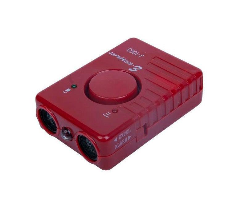Ультразвуковой отпугиватель собак с фонариком J-1003 красный, ультразвуковой прибор для отпугивания от собак