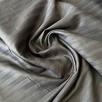 Сатин страйп темно-графитовый с повышенной плотностью, ш. 240 см, фото 1