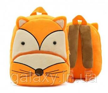 Рюкзак детский плюшевый Лиса на 3 - 5 лет качественный брендKAKOO