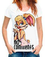 """Женская футболка с принтом """"No comments"""" Push IT"""