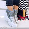 Зимові срібні кросівки  36 розмір, фото 2