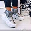 Зимові срібні кросівки  36 розмір, фото 3