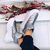 Зимові срібні кросівки  36 розмір, фото 4
