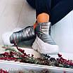 Зимові срібні кросівки  36 розмір, фото 10