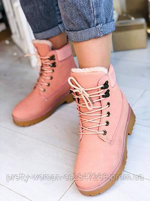 Рожеві зимові черевики 38 розмір