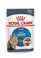 Влажний корм для кішок схильних до повноти Royal Canin Ultra Light 85 г(від 10шт в асортименті)