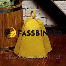 Шапка для лазні та сауни Fassbinder™ кольоровий повсть (жовтий)