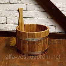Ківш для лазні Fassbinder™ дубовий, 5 літрів