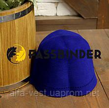 Шапка для лазні і сауни з шліфованого пуху сибірського кролика Fassbinder™, синя