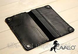 Чоловіче портмоне з натуральної шкіри Cavallo™ Crazy Horse Classic, чорний