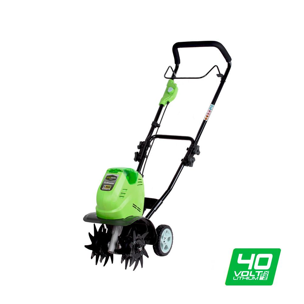 Акумуляторний культиватор Greenworks G40TL (без АКБ, 40)