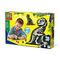 Набор для создания гипсовой фигурки Ses - Ти-Рекс со скелетом (14206S)