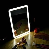 Зеркало косметическое прямоугольное на подставке с сенсорным включением, YT918
