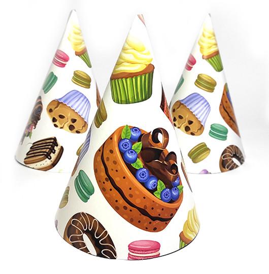 """Колпак праздничный 15 см """"Десерты"""""""