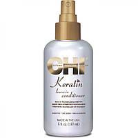 Несмываемый кератиновый кондиционер для всех типов волос, CHI Keratin Leave-in Conditioner, 177 мл