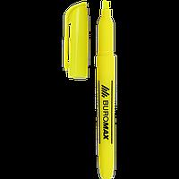 ^Текстмаркер желтый 24 мм JOBMAX водная основа круглый
