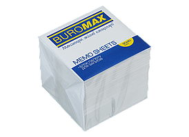 /Блок белой бумаги для записей 90х90х90 мм не склеенный