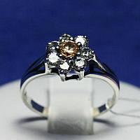 Серебряное кольцо с цирконием Семицвет 1846, фото 1