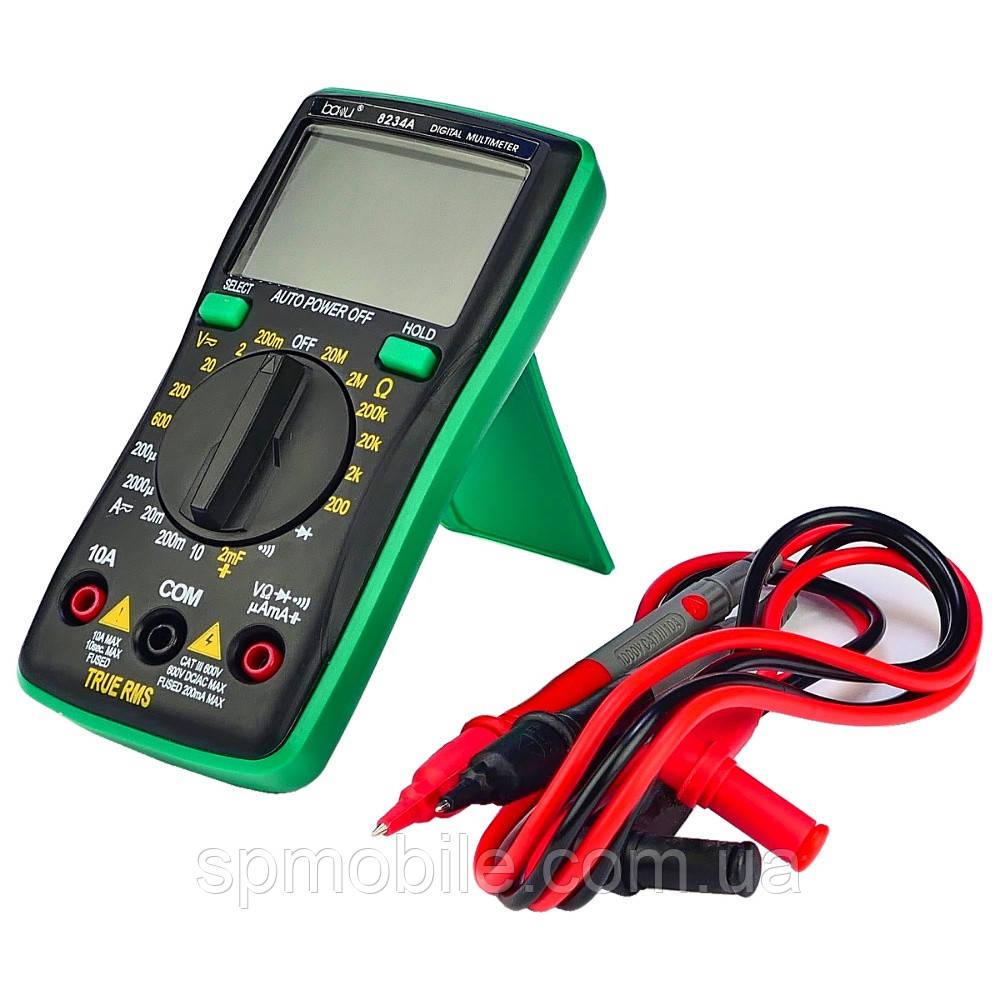 Мультиметр цифровой BAKU BA-8234A с функцией Auto Off и инверсионным дисплеем (ток до 10A)