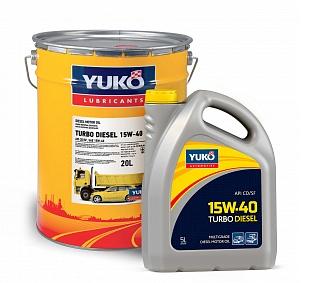 Масло моторное TURBO DIESEL 15W-40 (5 л.) минеральное YUKO