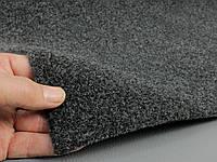 Авто ковролин тягучий (Польша), черно-серый (графит) шир.1,7м, ковролин для авто, фото 1