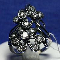 Серебряное кольцо с чернением Соцветие 1886