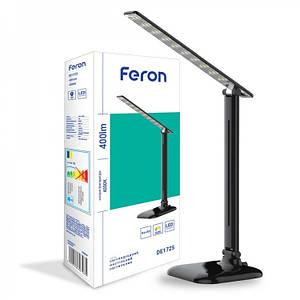 Настільний світлодіодний світильник Feron DE1725 9 W 4000K чорний