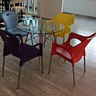 Круглий стіл Імз прозорий D80 см на букових ніжках від SDM Grouр, фото 3